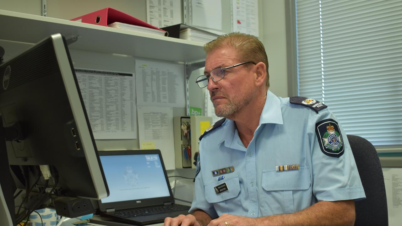 Senior Sergeant Bruce Peel at his Lowood Police Station.