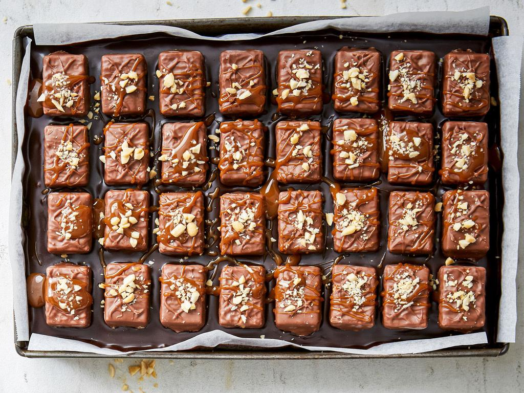 Snack away with Snickers Tray Bake Slices!