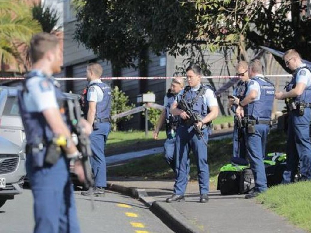 "Police say a big operation is underway to apprehend the offender, who attacked officers performing a ""routine traffic stop"". Picture: Michael Craig/NZ Herald"