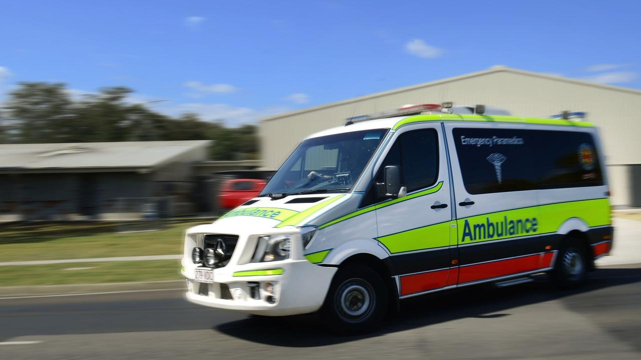 Paramedics are at the site of a two vehicle crash at Emerald.