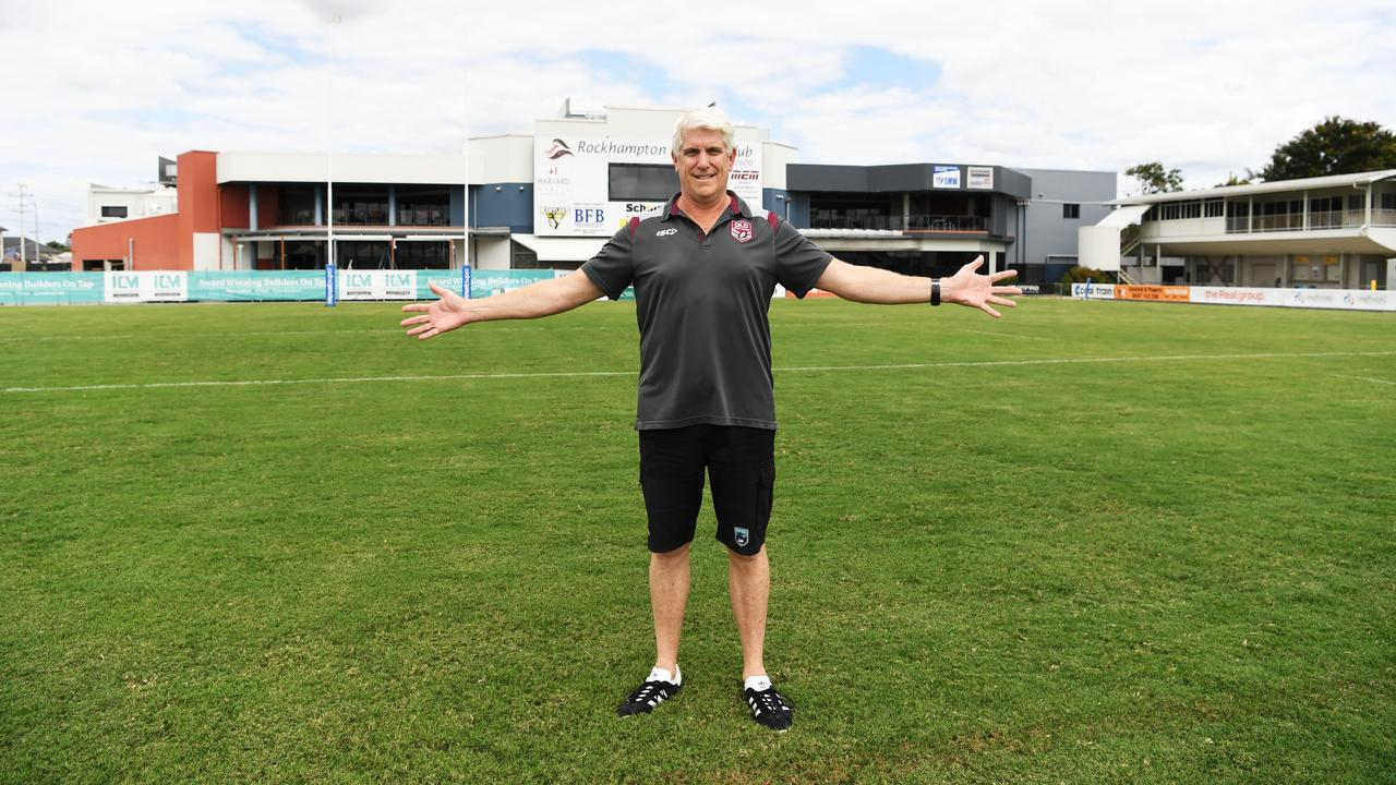 Member of the Management of Browne park Incorporated Rob Crow has lobbied hard to see a stadium built at Rockhampton's spiritual home of rugby league, Browne Park.