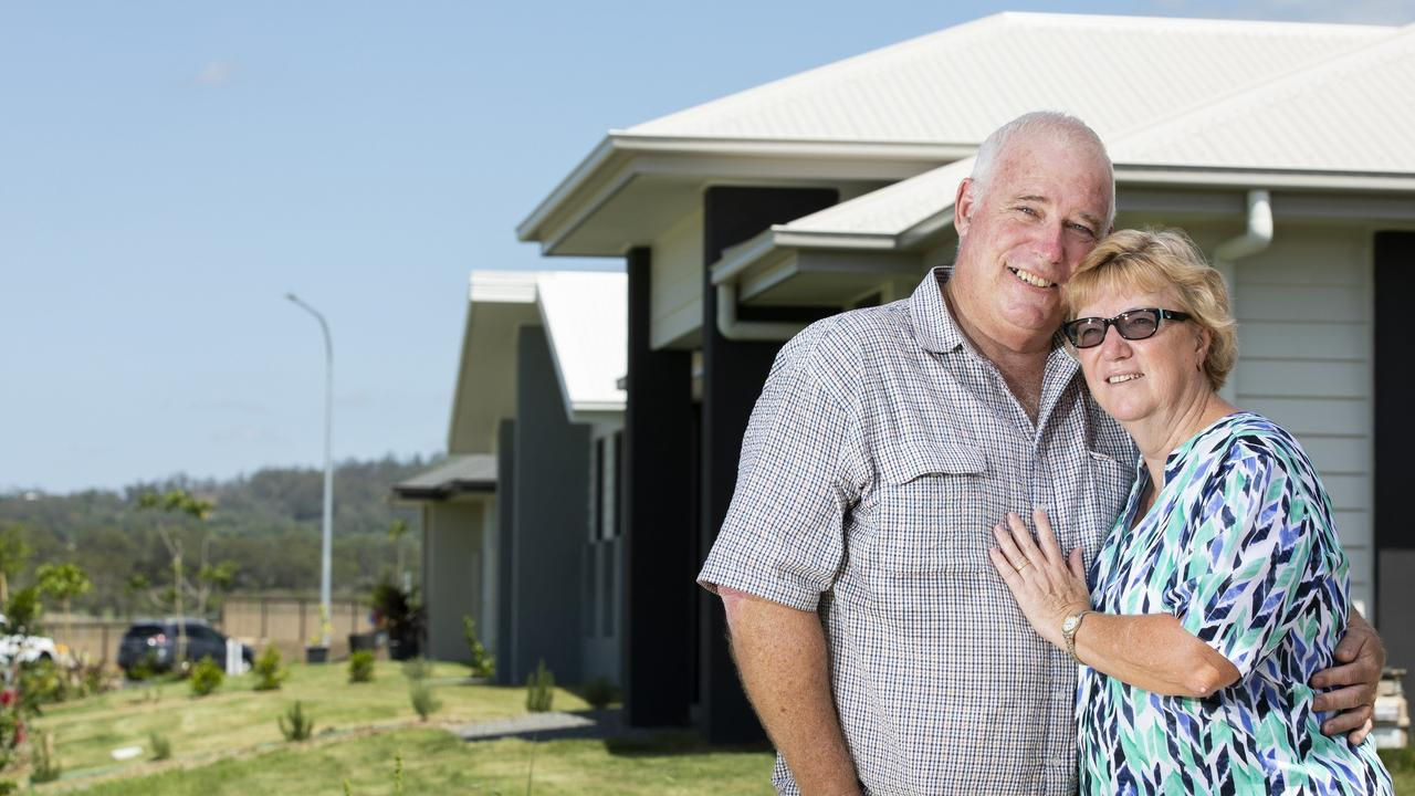 Barry and Robyn Riedel are part of a wave of downsizers building brand new homes in Waterlea.