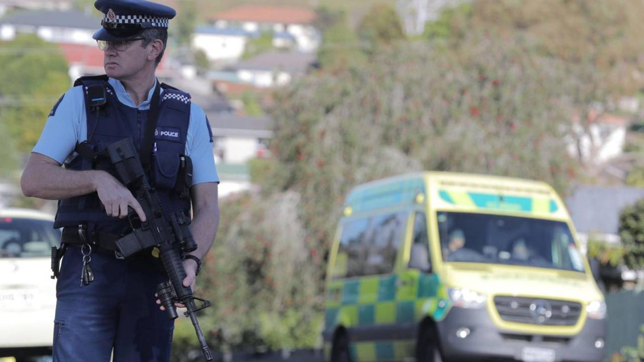 Police officers shot in Auckland. Picture: Michael Craig/NZ Herald
