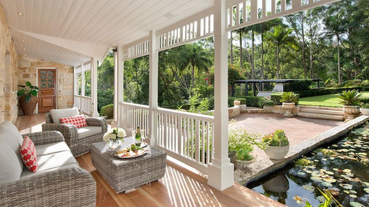 The grounds at 50 Carters Rd, Dural also contain a lily pond. Picture: realestate.com.au