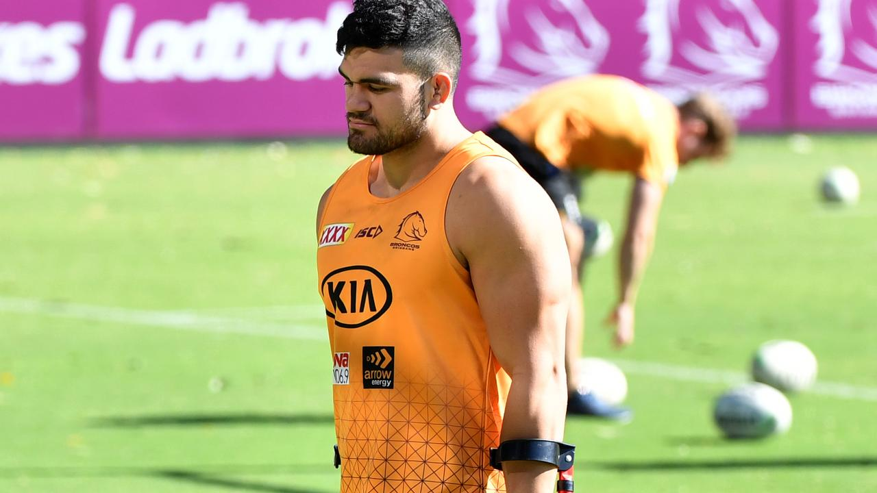 David Fifita is yet to return from injury after having surgery during the NRL shutdown. Picture: AAP.