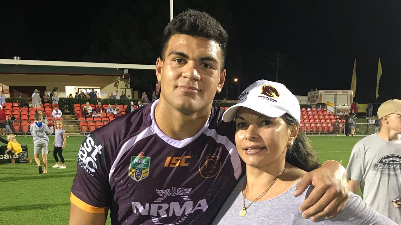 David Fifita with mum, Gwen Fifita who has played an active role in contract negotiations.