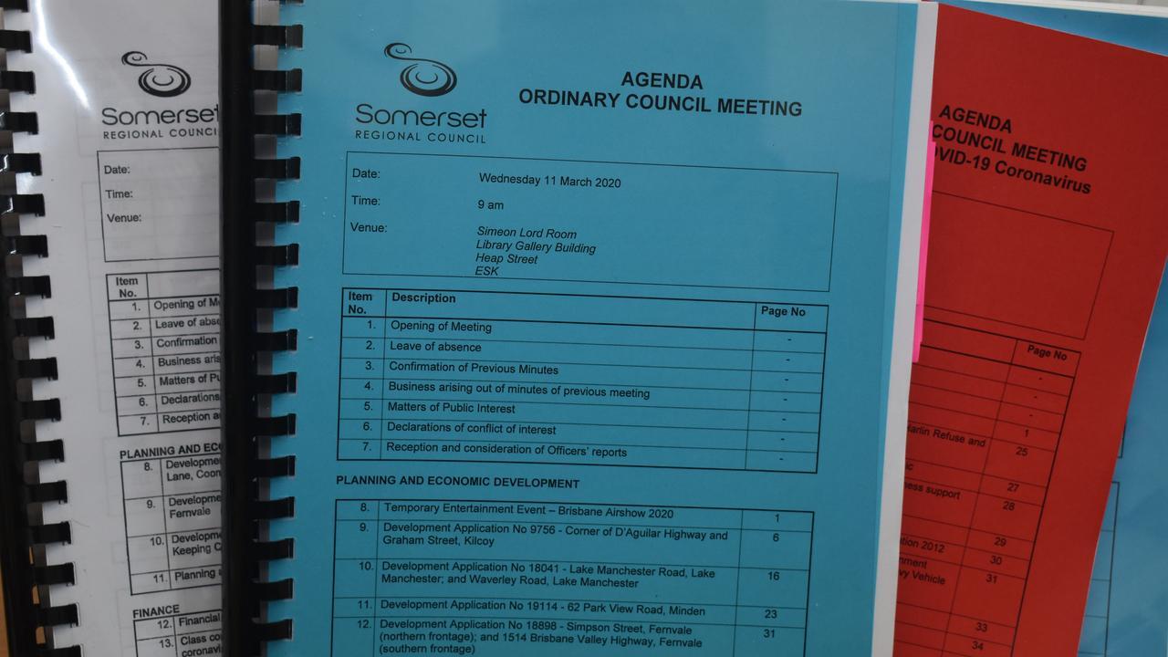 Somerset Regional Council Agendas.