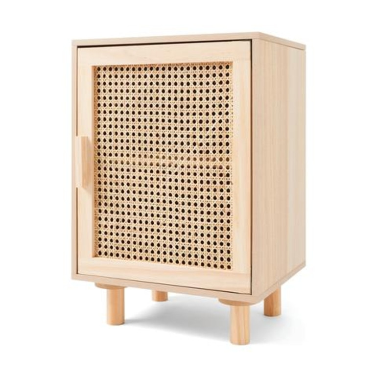 Rattan side table, $39. Picture: Supplied/Kmart