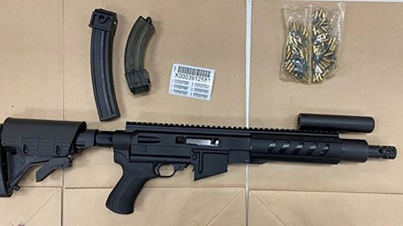 Three men have been arrested as part of a counter terrorism raid that allegedly uncovered a cache of illegal weapons, including military style firearms.