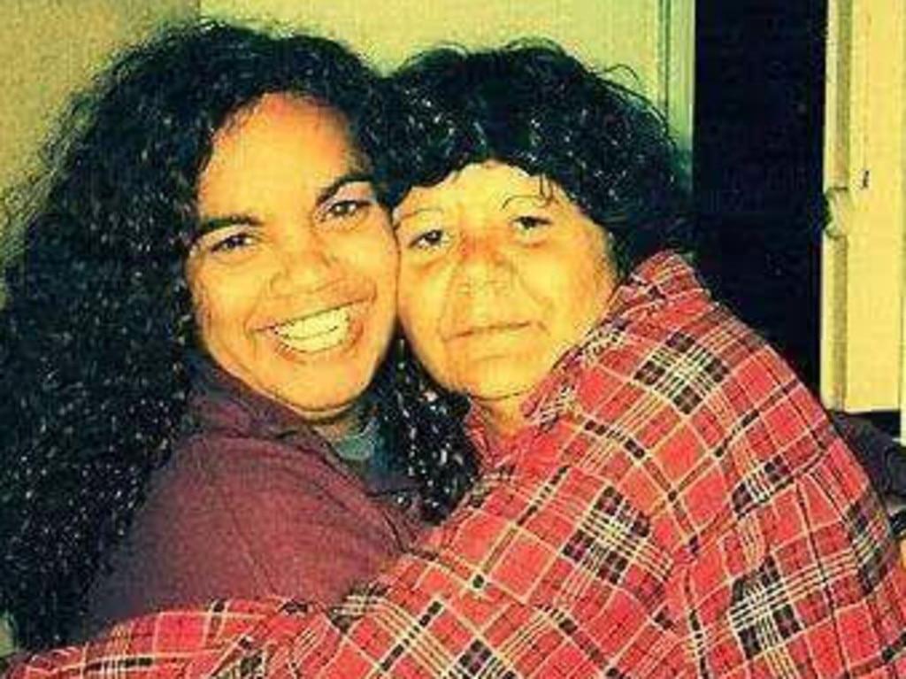 Eleanor Binge with her aunt Theresa Binge (right) who was murdered in Goondiwindi.
