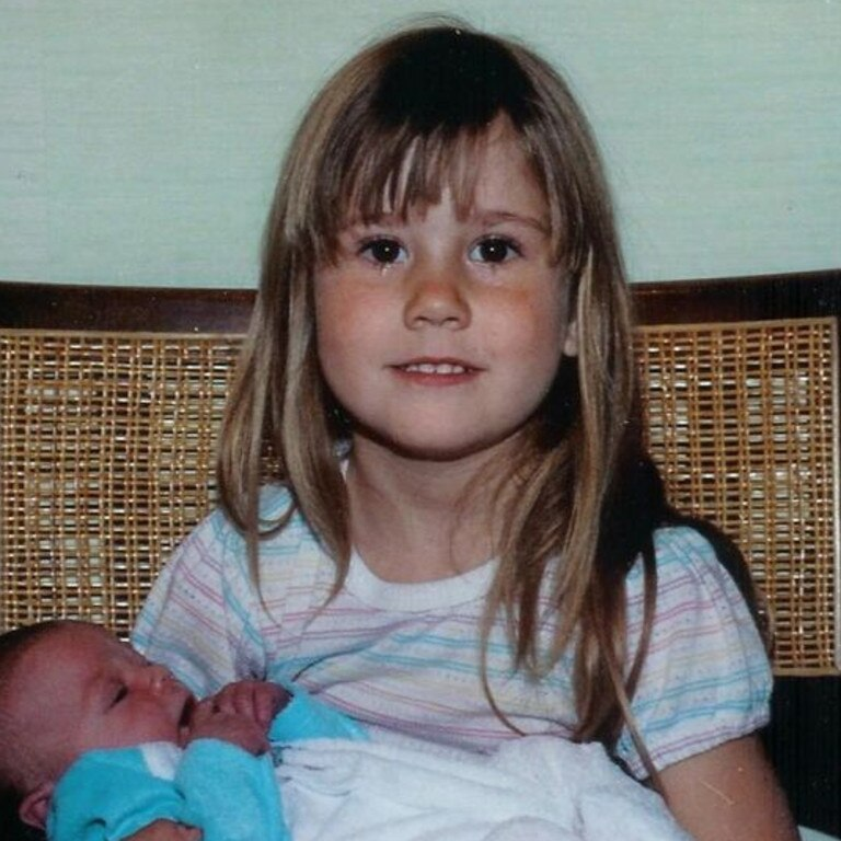 Proud big sister Alissa Turney with her little sister Sarah Turney. Sarah didn't think he Alissa would choose to leave. Picture: supplied.