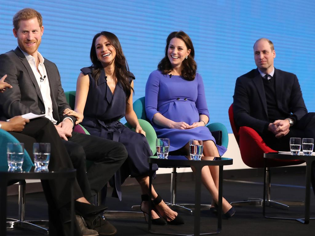 The Fab Four were all smiles at the Royal Foundation forum in February 2018. Picture: Chris Jackson - WPA Pool/Getty Images.