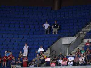 Embarrassing crowd numbers at Trump rally