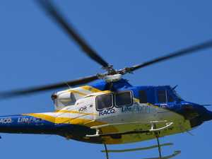 Patient airlifted to hospital after Gympie motorbike carnage
