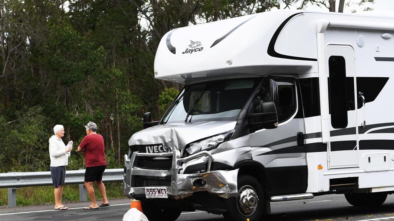 Fatal Traffic crash on the Bruce Highway at Tinana Photo: Cody Fox