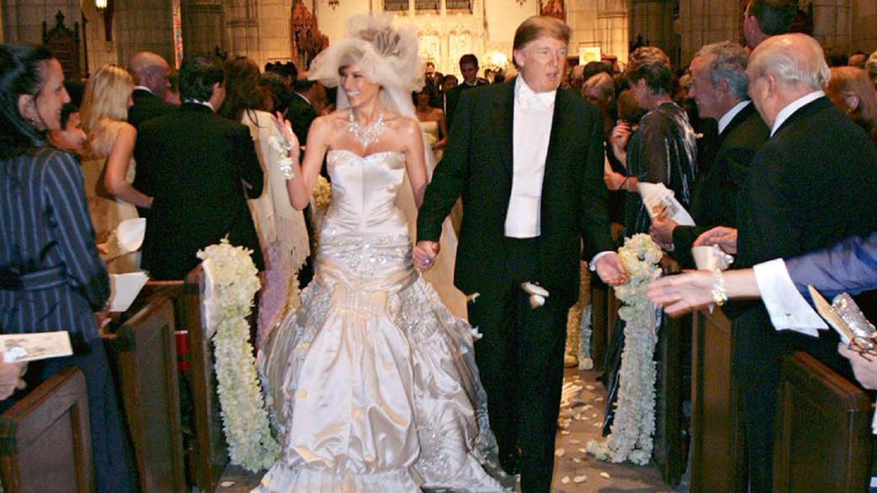 The wedding of Donald Trump and Melania Trump at The Episcopal Church of Bethesda-By-The-Sea on January 22, 2005 in Palm Beach, Florida. Picture: Maring Photography/Getty Images