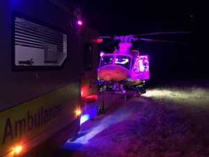 Woman hurt in late-night hunting accident