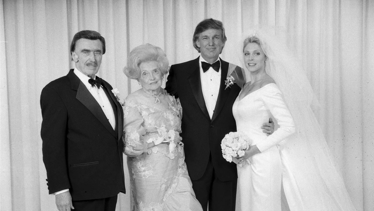 Donald Trump at his wedding to his now ex-wife Marla Maples. Picture: Getty Images