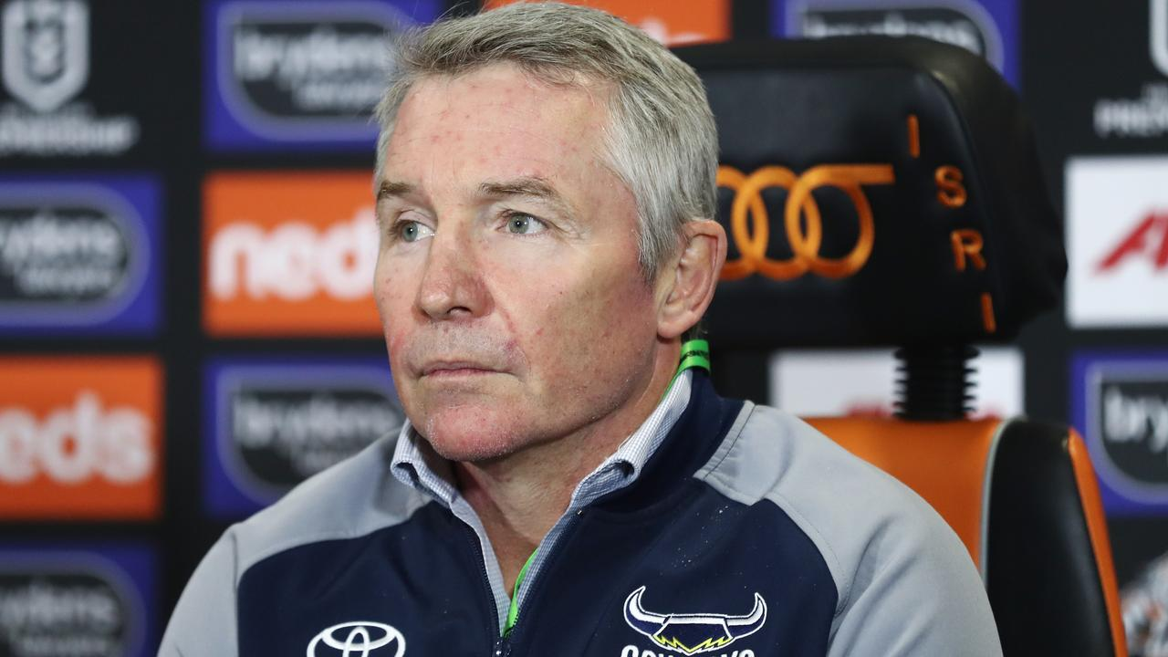 Cowboys coach, Paul Green speaks to the media following the Round 6 NRL match between the Wests Tigers and the North Queensland Cowboys at Campbelltown Stadium in Sydney, Saturday, June 20, 2020. (AAP Image/Brendon Thorne)