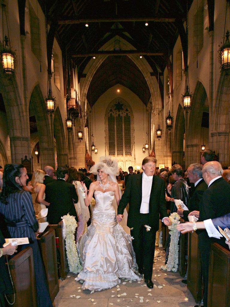 Le mariage de Donald Trump et Melania Trump à l'église épiscopale de Bethesda-By-The-Sea le 22 janvier 2005 à Palm Beach, en Floride. Image: Maring Photography / Getty Images