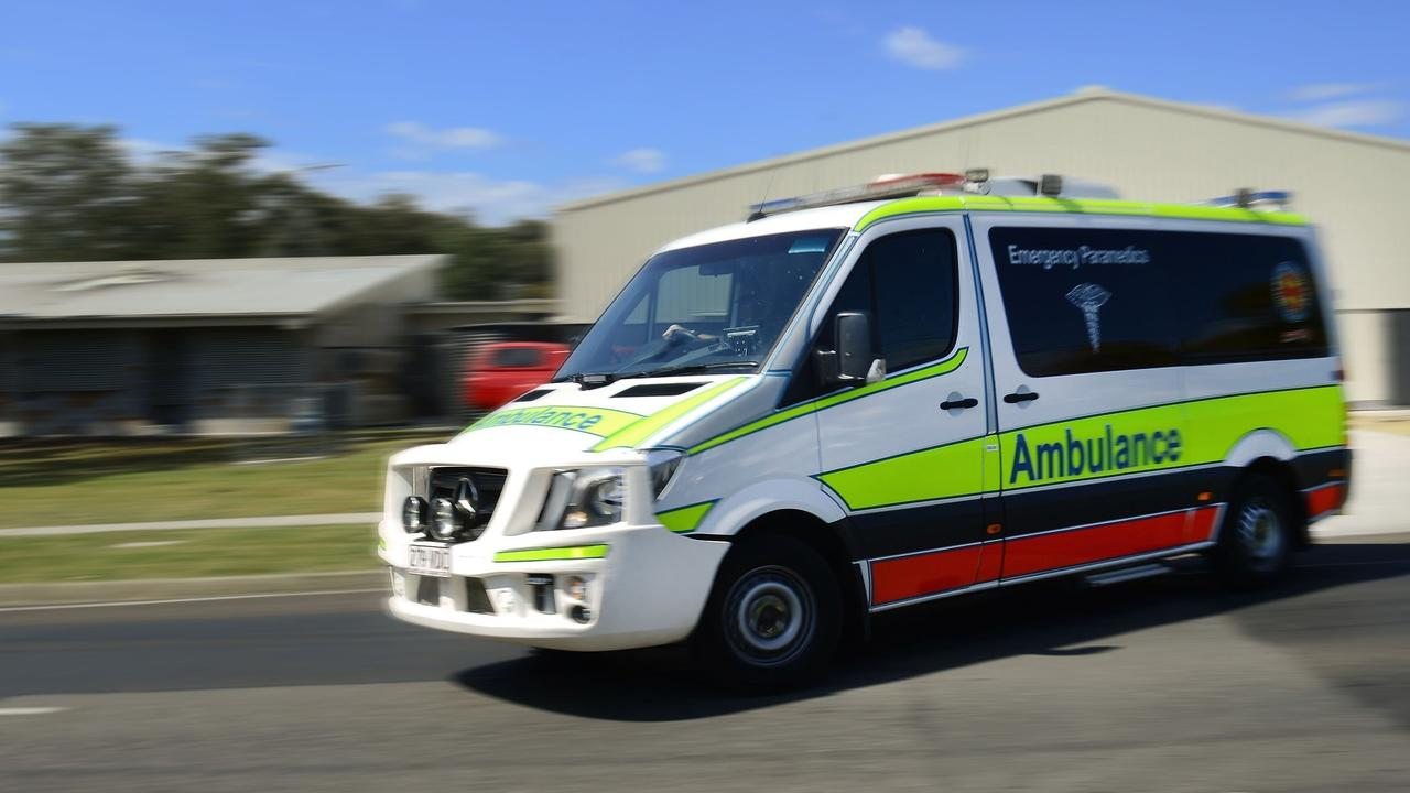 A teen is in hospital after falling from a roof in Noosa Heads.