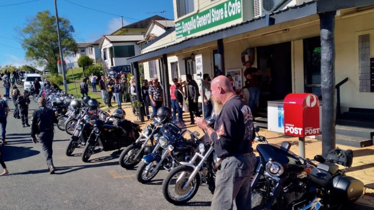 About 130 motorcyclists rode up to Eungella to support the small businesses that had taken a hit due to the COVID-19 environment. Picture: Dave Monk