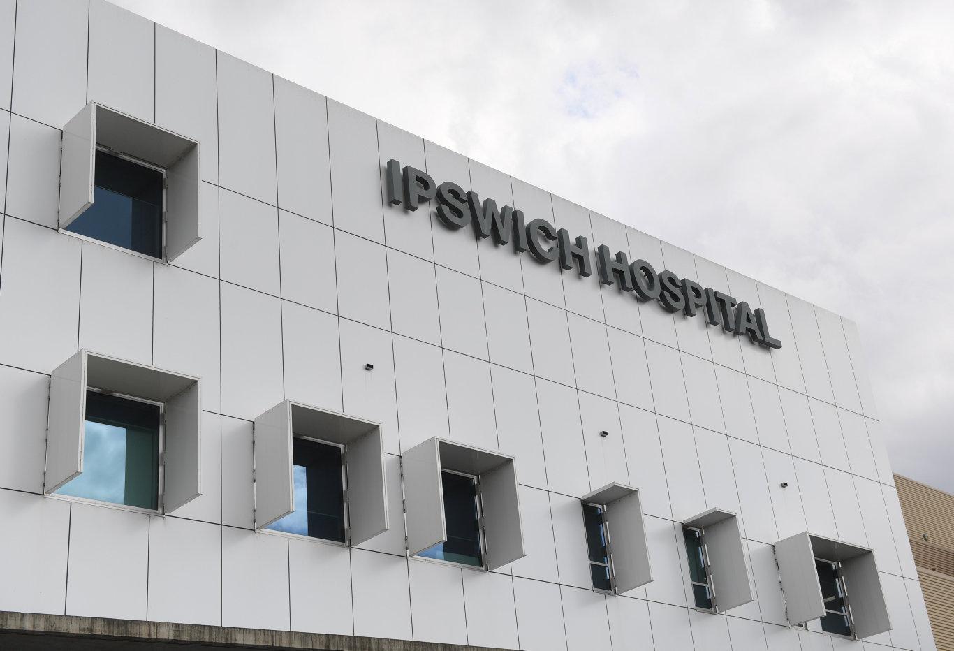 A man was taken to Ipswich Hospital following a crash.