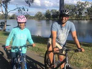 KEEN: Father and daughter cyclists Kripa and Riya