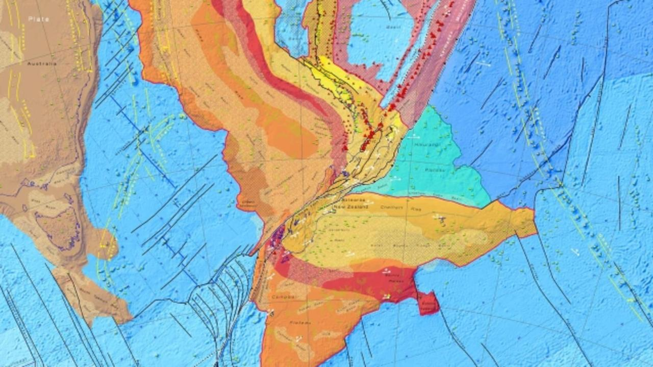 The tectonic plates of Zealandia. Picture: GNS science.