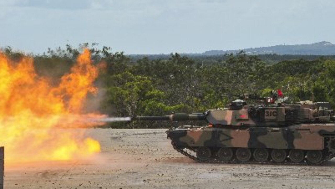 An M1A1 Abrams Main Battle Tank live fires during an exercise at Wide Bay Training Area last year. .