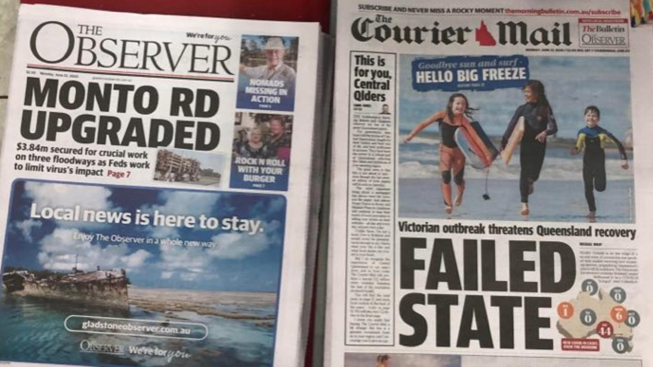 The Observer and The Courier-Mail.