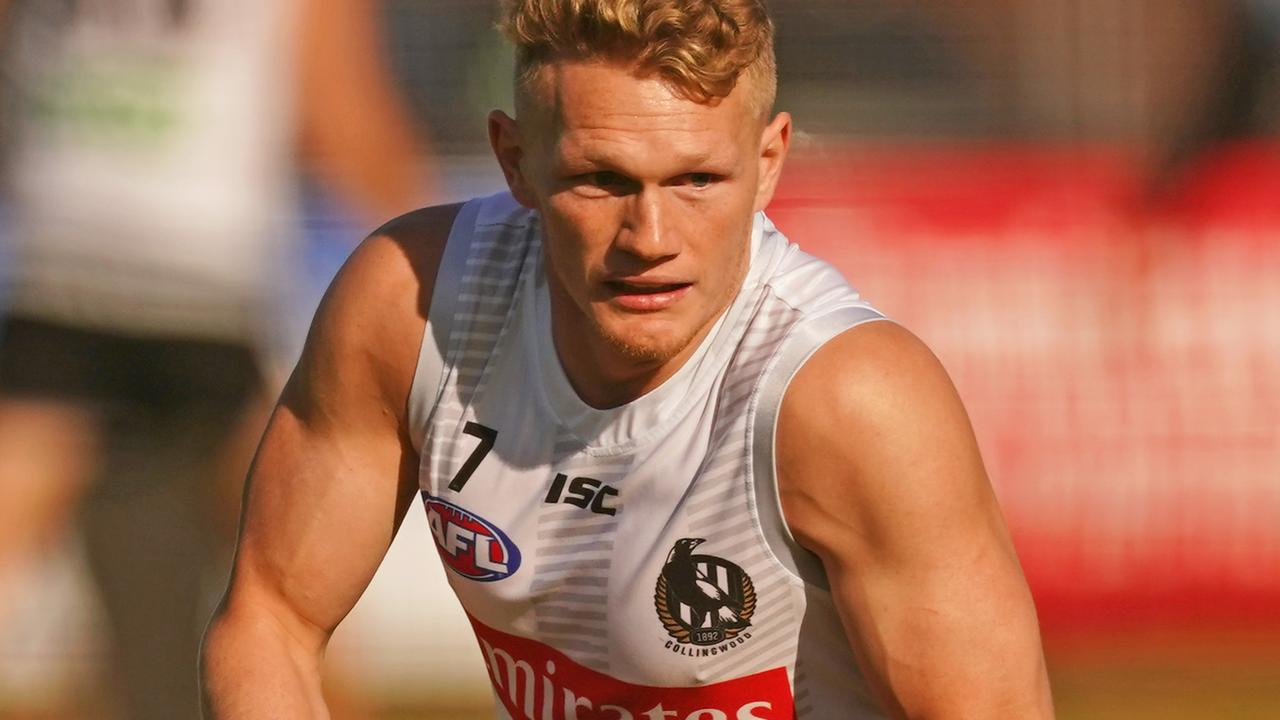 Adam Treloar of the Magpies.