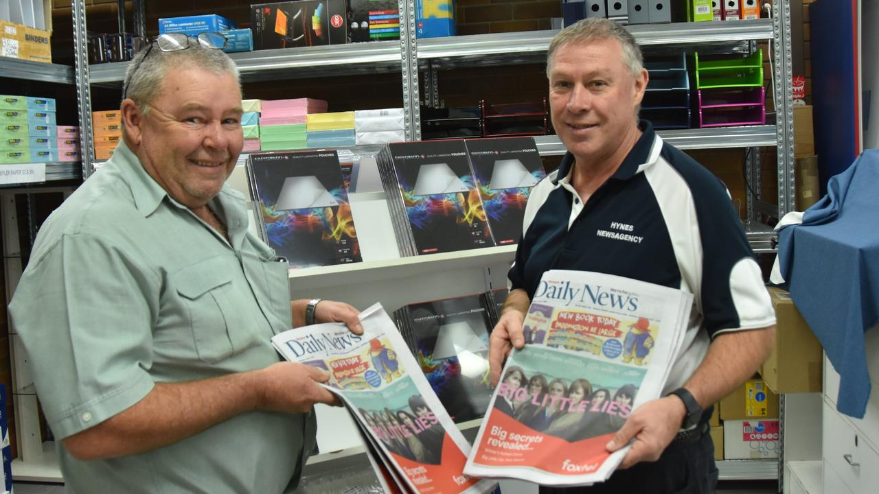 FINAL RUN: Hynes Newsagency co-owners Peter and Paul Hynes making preparations for their final WDN deliveries this weekend. Picture: contributed