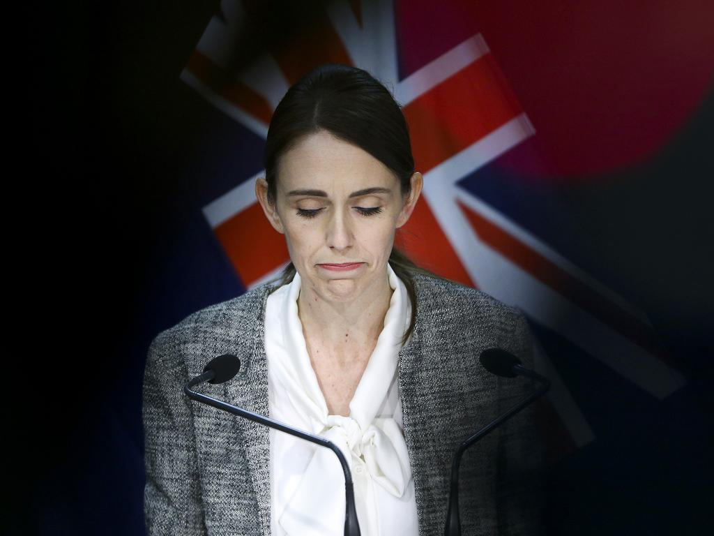 Prime Minister Jacinda Ardern is facing criticism over the return of the coronavirus in New Zealand. Picture: Hagen Hopkins/Getty Images