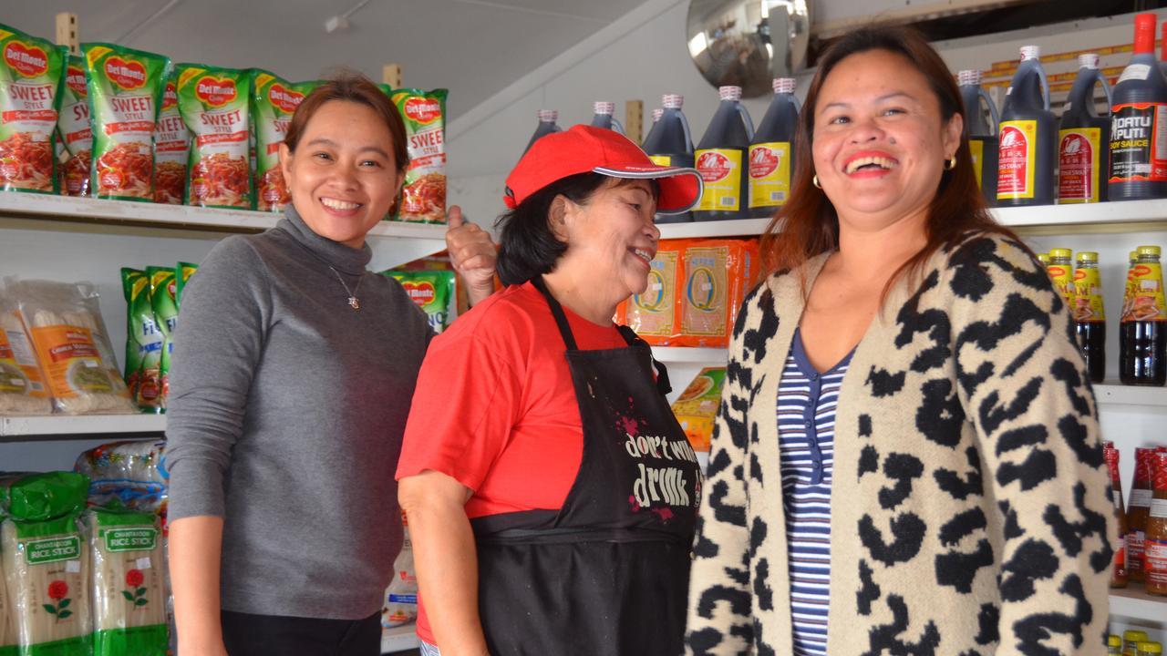 BURNETT ASIAN DELIGHTS: Jovy Zablan, Rita Sullivan and Joann Duncan at the Mulgildie Asian Supermarket and Restaurant. Picture: Sam Turner