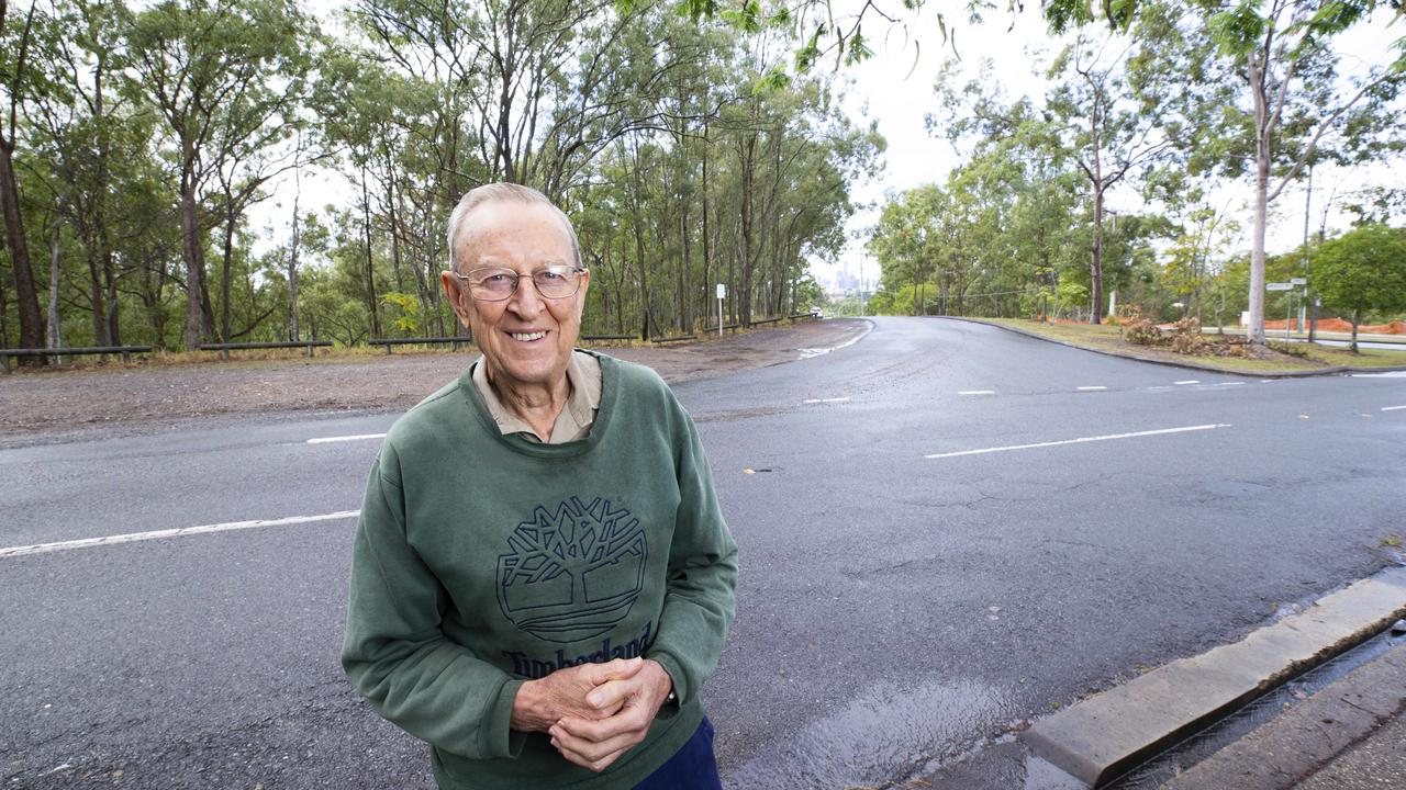 Denis Hamilton has had a win after lobbying Council for 40 years to fix his street. Picture: Renae Droop