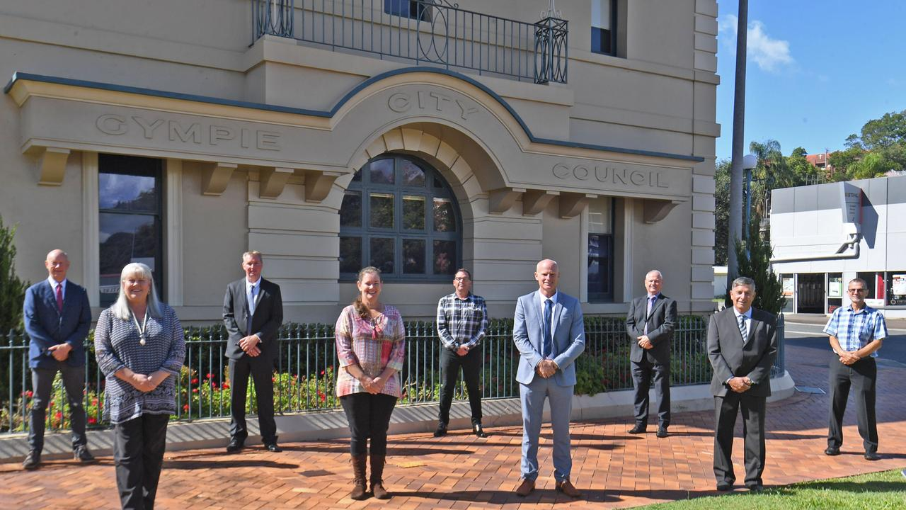 Councillors Bob Fredman, Dolly Jensen, Shane Waldock, Jess Milne, Bruce Devereaux, Mayor Glen Hartwig, Warren Polley, Deputy Mayor Hilary Smerdon and Dan Stewart are expected to approve a request to borrow $10 million to keep the council running.