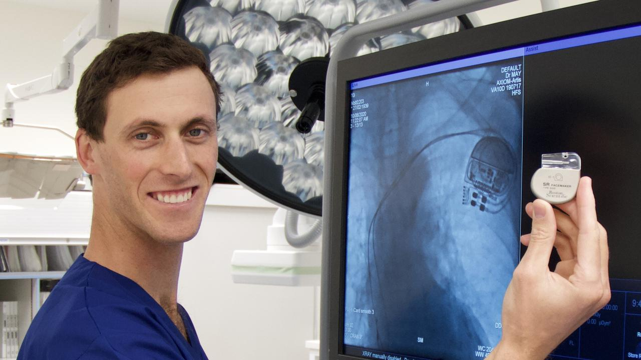 Dr Austin May has conducted the first ever pacemaker implant operations in Coffs Harbour.