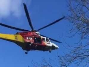 Woman flown to hospital after falling from horse
