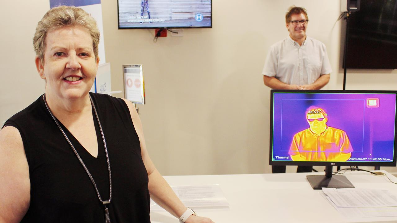 STOP THE SPREAD: Buderim Private Hospital general manager Karen Clark with their new thermal imagining technology.