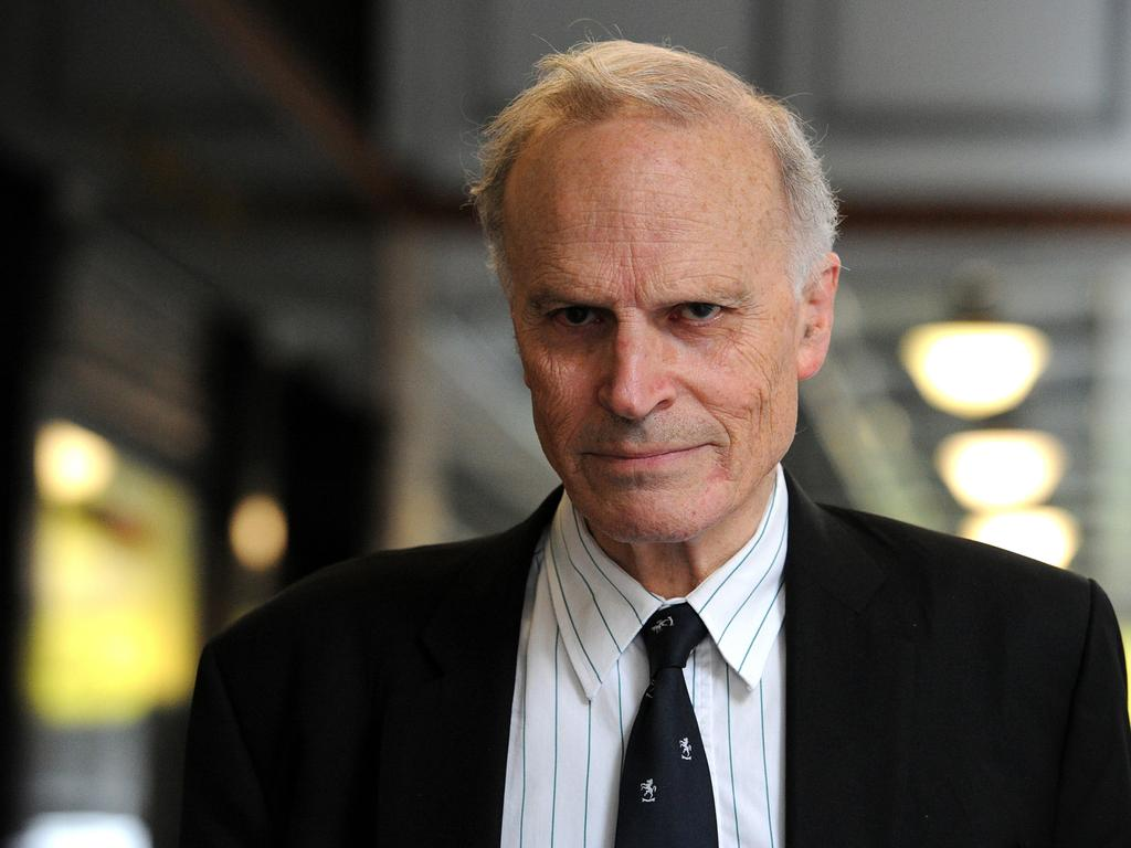 Dyson Heydon leaving the Royal Commission into Trade Union Governance and Corruption in 2015. Picture: Joel Carrett/AAP