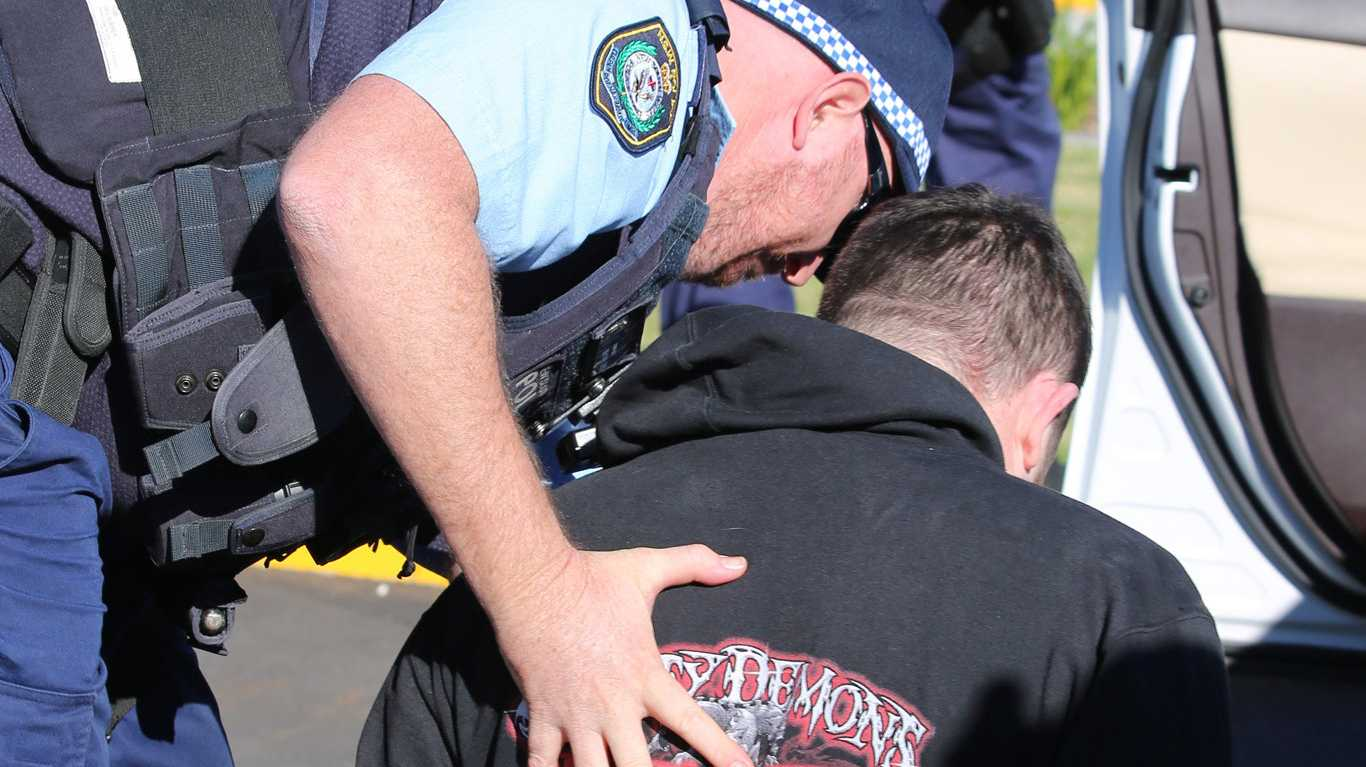 Ballina arrest during massive police raids across three states.