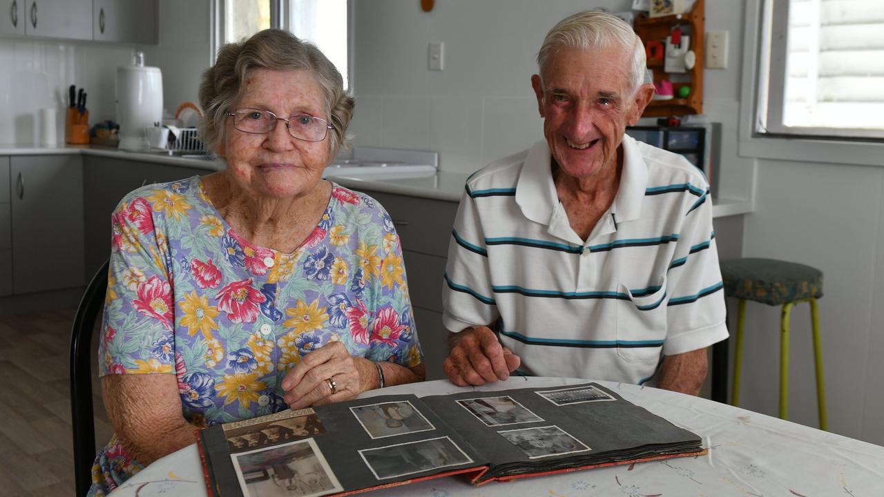 Rose and Les Baker look back at old memories ahead of their 65th wedding anniversary. Photo: Sam Reynolds