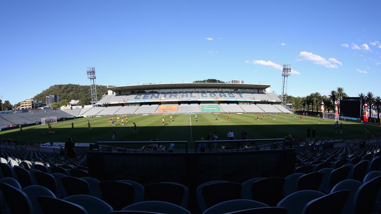 Central Coast Stadium with empty seats due to the fan lockout and coronavirus.