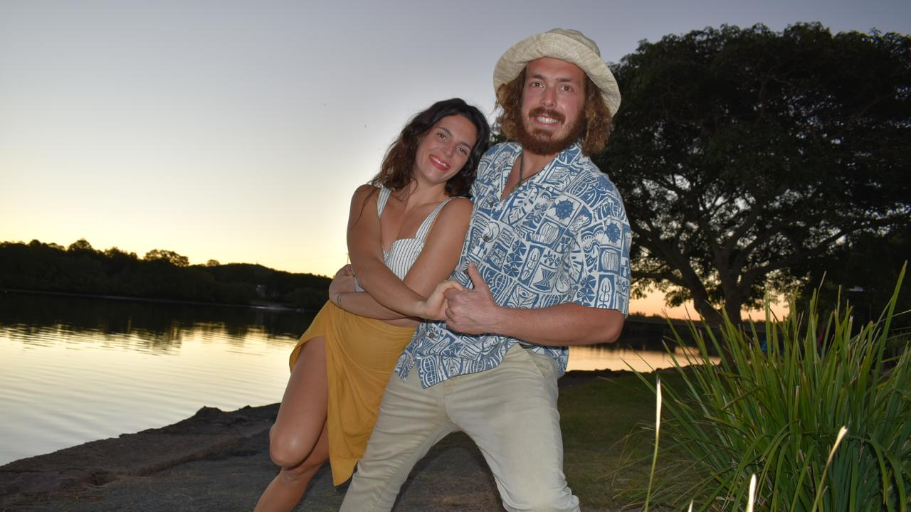 Silvia Scarponi and Giacomo Brugiapaglia are hoping to connect with the community through dance. Picture: Laura Pettigrew.