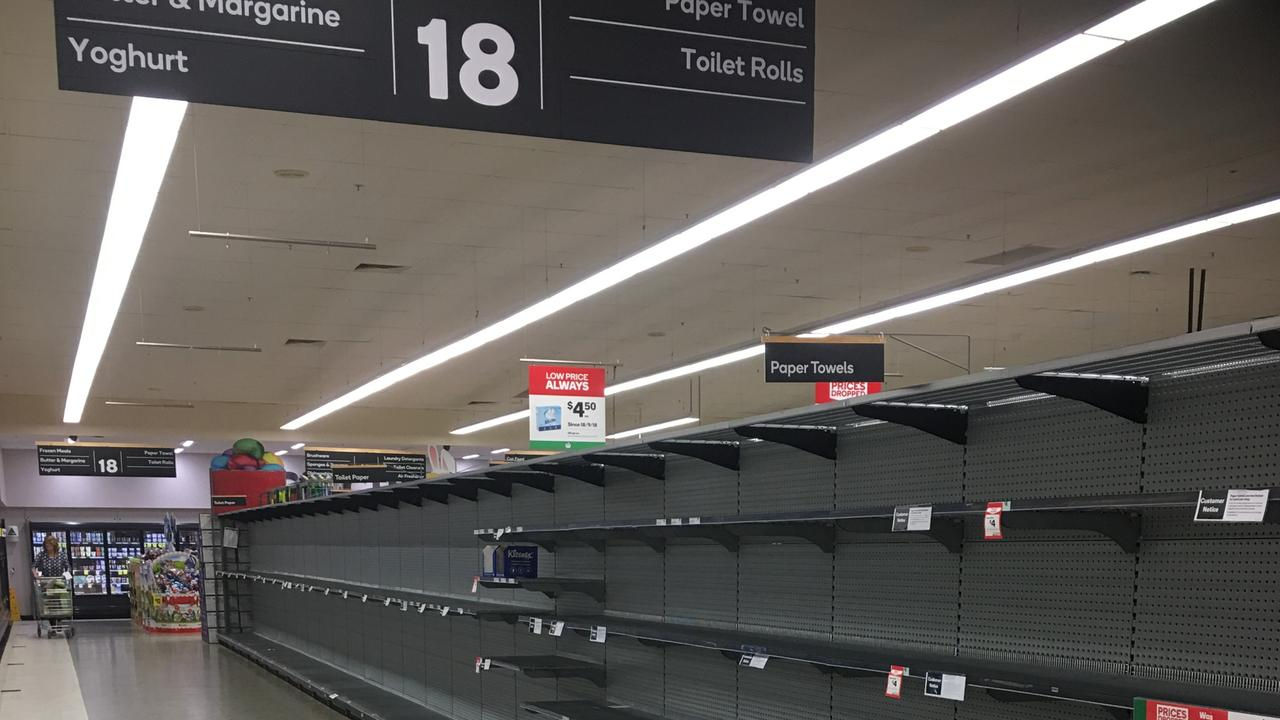 Supermarkets are desperate for these scenes not to return again. Picture: Dale Fletcher