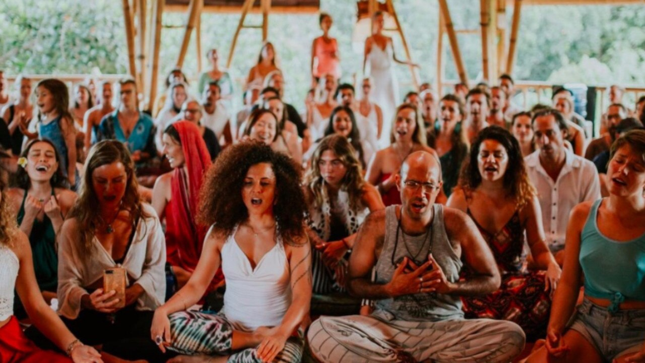 More than a hundred people at the House Of Om in Ubud. Picture: Jenny Jusuf