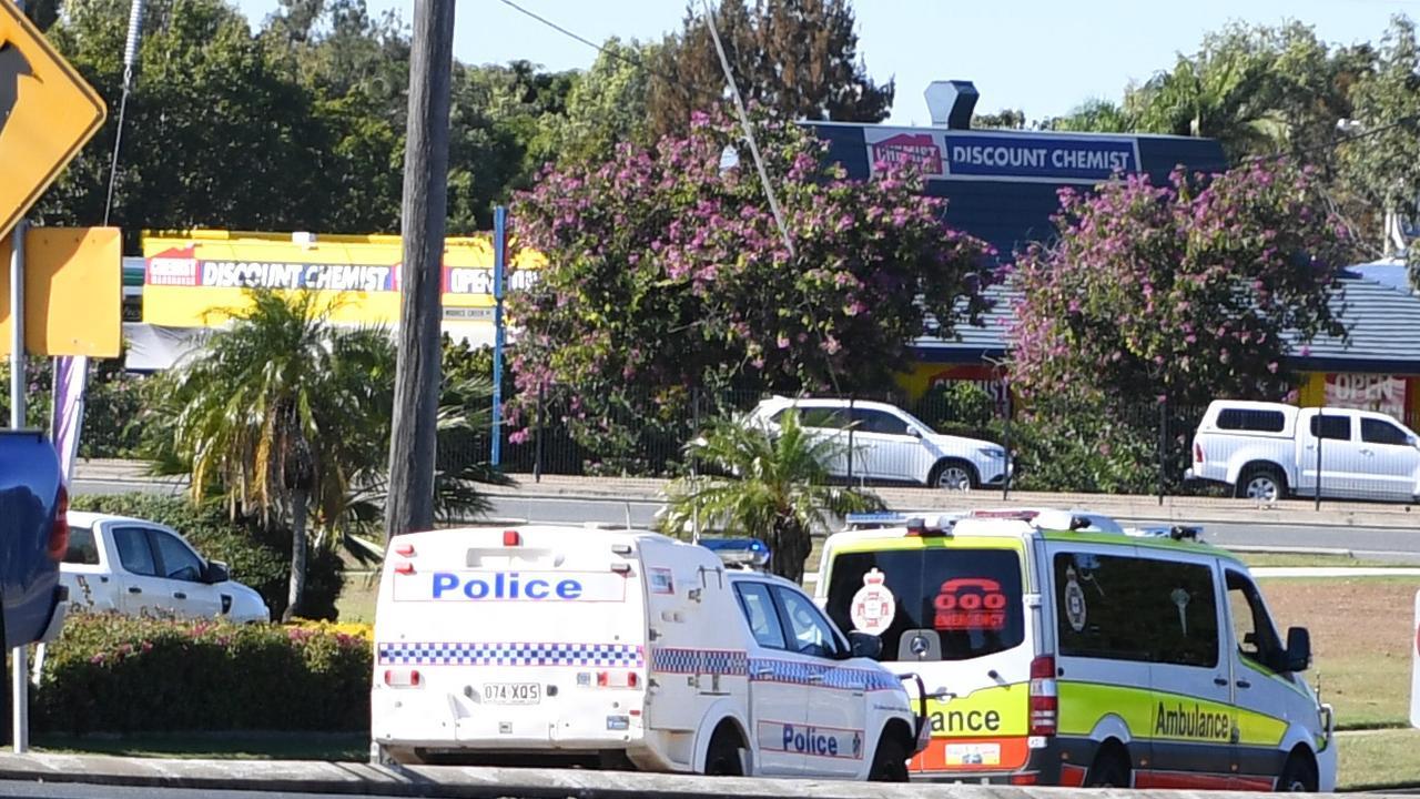 Police attend a crash on Alexandra St Nth Rockhampton