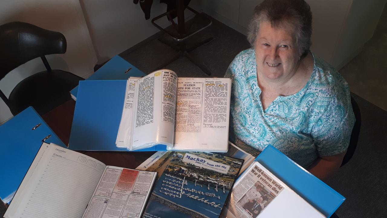 Grace Hutchison collects funeral notice clippings to assist people with family history.