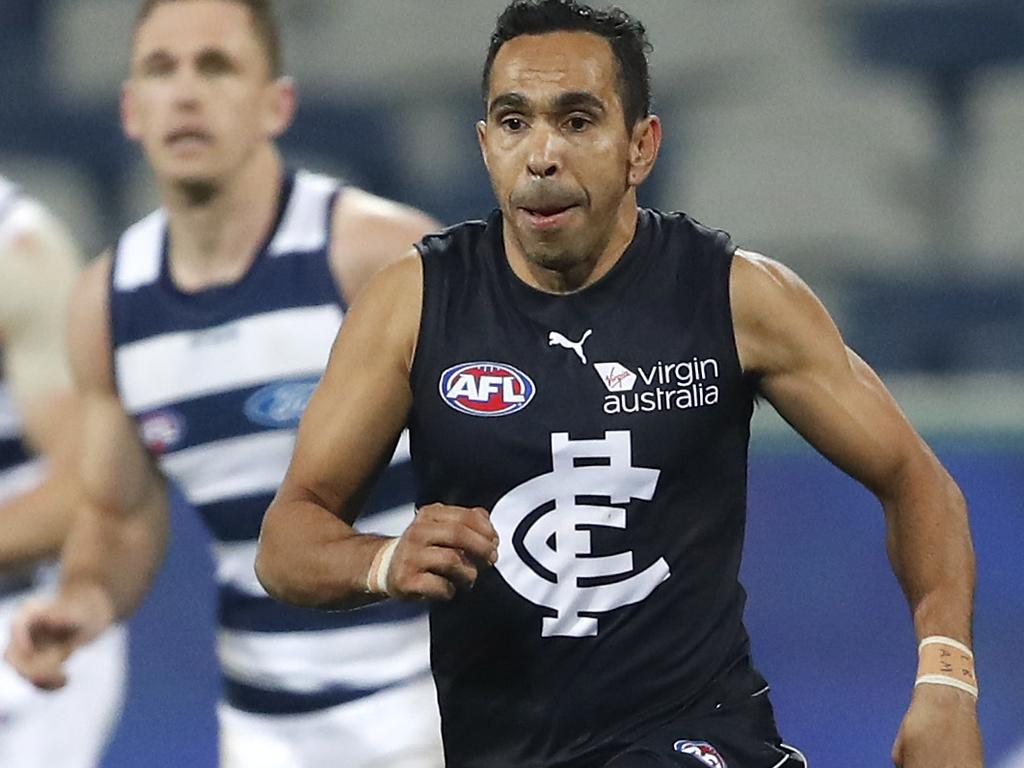 Eddie Betts inspired Carlton's upset win against Geelong.